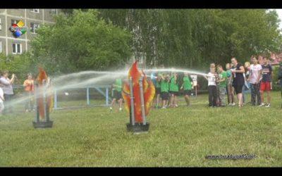 Сотрудники пожарной части провели увлекательный квест для детей