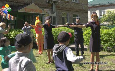 «Зарядка со стражем порядка» прошла в детском саду «Теремок»