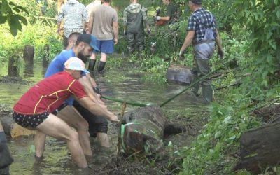 На реке Вохна прошел третий субботник