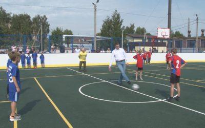 Многофункциональная спортивная площадка появилась в деревне Кузнецы