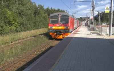 В д. Ковригино ввели в эксплуатацию новую пассажирскую платформу